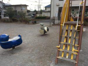 キリン公園-滑り台のぼり