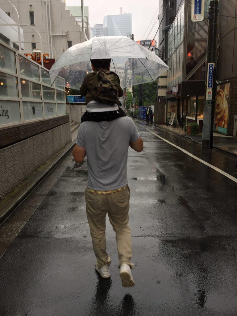 かたぐるま傘